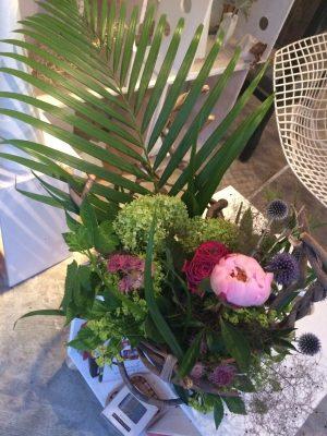 レッスン「ツルを組んで花を生ける」